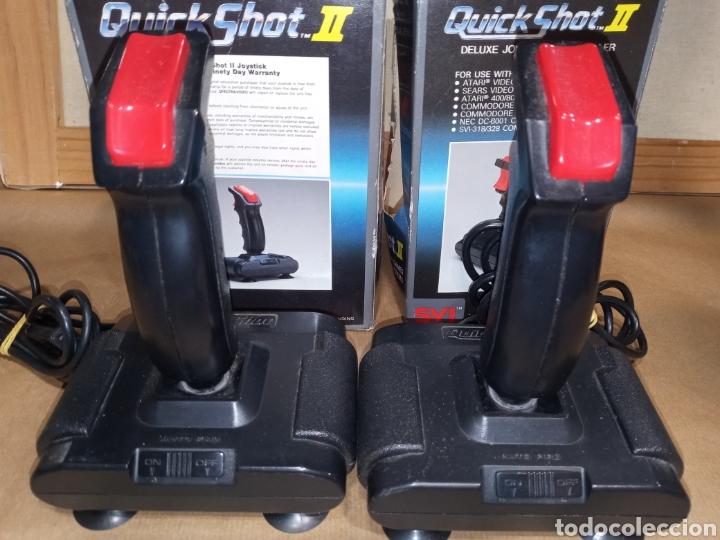 LOTE 2 MANDOS QUICK SHOT II PARA ATARI COMMODORE ARCADE (Juguetes - Videojuegos y Consolas - Commodore)