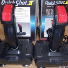 Videojuegos y Consolas: LOTE 2 MANDOS QUICK SHOT II PARA ATARI COMMODORE ARCADE. Lote 257690295
