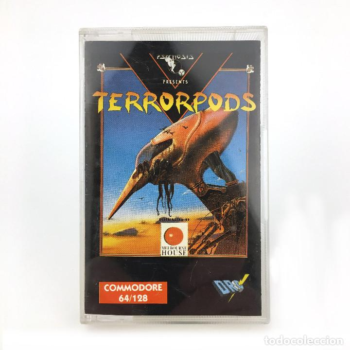 TERRORPODS. - DRO SOFT ESPAÑA / PSYGNOSIS / MELBOURNE HOUSE 1988 / CBM COMMODORE 64 128 C64 CASSETTE (Juguetes - Videojuegos y Consolas - Commodore)