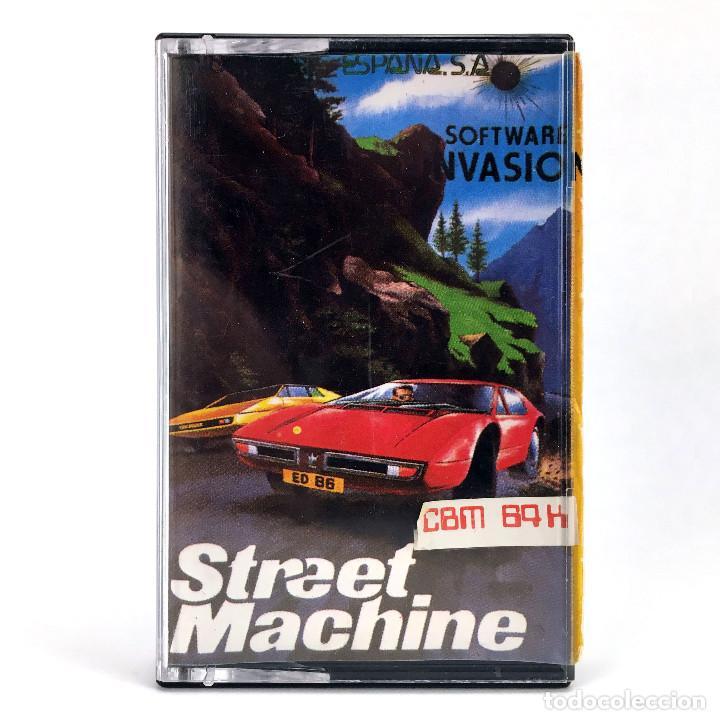 STREET MACHINE / MIND GAMES ESPAÑA / SOFTWARE INVASION 1986 COCHES CBM COMMODORE 64 128 C64 CASSETTE (Juguetes - Videojuegos y Consolas - Commodore)