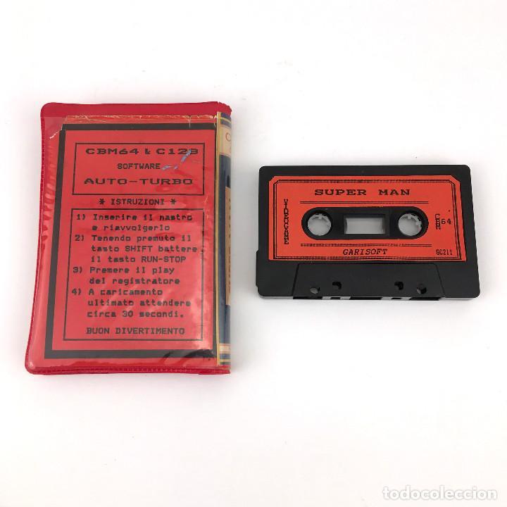Videojuegos y Consolas: SUPERMAN ESTUCHE GARISOFT RI-A SOFT ITALIA RAREZA PIRATA DC COMICS CBM COMMODORE 64 128 C64 CASSETTE - Foto 2 - 257713535