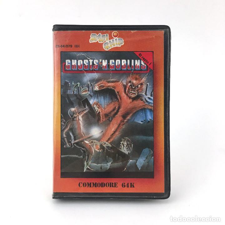 GHOSTS´N GOBLINS ESTUCHE ZAFI CHIP ZAFIRO ELITE 1986 魔界村 MAKAIMURA CBM COMMODORE 64 128 C64 CASSETTE (Juguetes - Videojuegos y Consolas - Commodore)