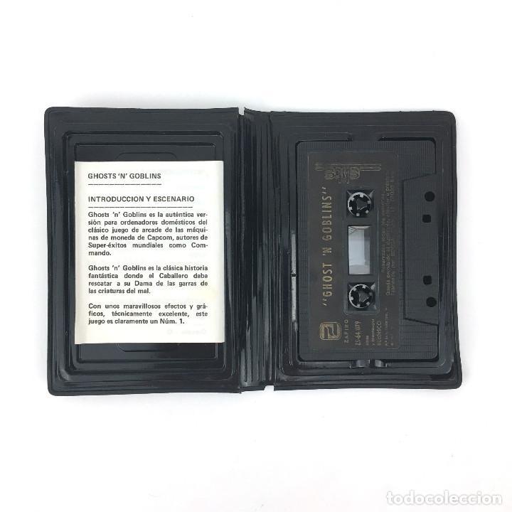 Videojuegos y Consolas: GHOSTS´N GOBLINS ESTUCHE ZAFI CHIP ZAFIRO ELITE 1986 魔界村 Makaimura CBM COMMODORE 64 128 C64 CASSETTE - Foto 2 - 257713740