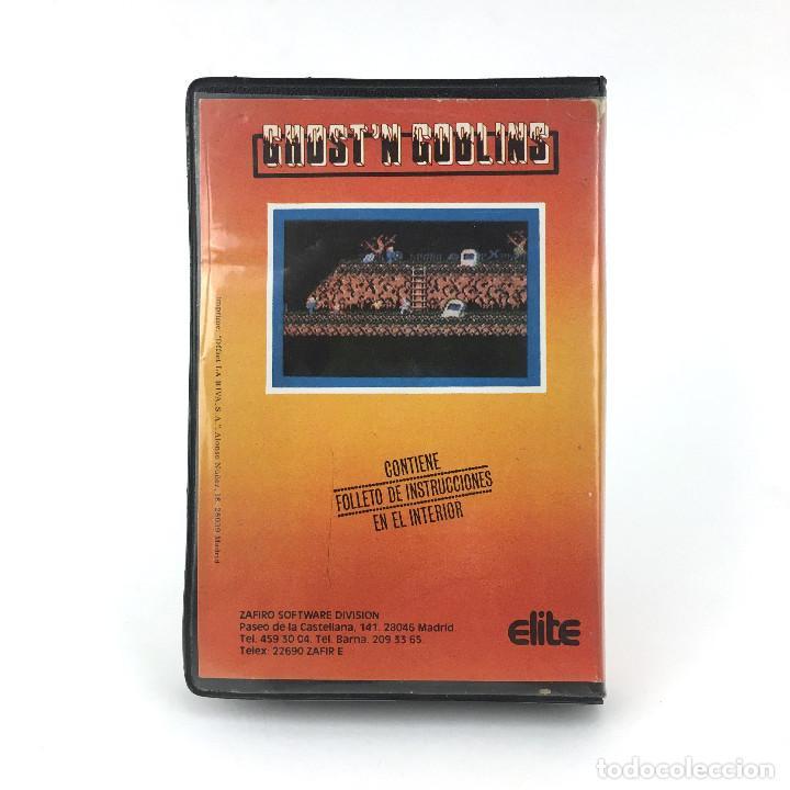 Videojuegos y Consolas: GHOSTS´N GOBLINS ESTUCHE ZAFI CHIP ZAFIRO ELITE 1986 魔界村 Makaimura CBM COMMODORE 64 128 C64 CASSETTE - Foto 3 - 257713740