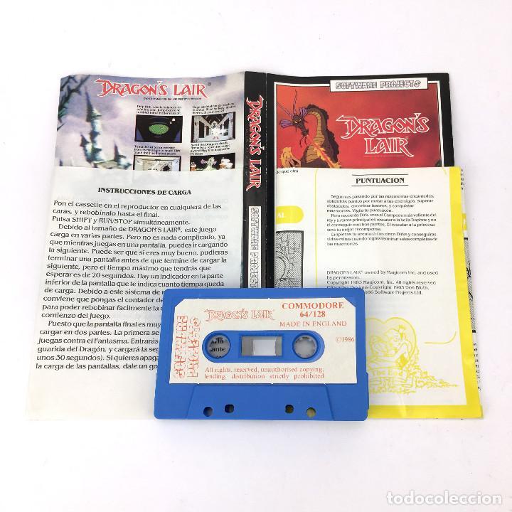 Videojuegos y Consolas: DRAGON´S LAIR / ERBE ESPAÑA / SOFTWARE PROJECTS / MAGICOM MAZMORRA CBM COMMODORE 64 128 C64 CASSETTE - Foto 2 - 257713875