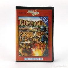 Videojuegos y Consolas: COMMANDO - ESTUCHE ZAFIRO ZAFI CHIP ELITE CAPCOM CHRIS BUTLER RARE CBM COMMODORE 64 128 C64 CASSETTE. Lote 260047450