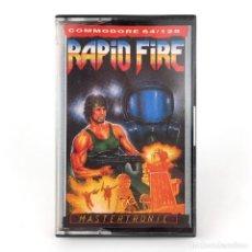 Videojuegos y Consolas: RAPID FIRE DRO SOFT ESPAÑA / MASTERTRONIC JOHN BUCKLEY SHOOT'EM UP CBM COMMODORE 64 128 C64 CASSETTE. Lote 261951160