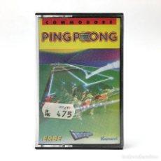 Videojuegos y Consolas: PING PONG COMPLETO MBE. ERBE LOMO NEGRO IMAGINE KONAMI 1986 PIMPON CBM COMMODORE 64 128 C64 CASSETTE. Lote 261951405