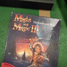 Videojuegos y Consolas: MIGHT AND MAGIC III-ISLES OF TERRA - COMMODORE - VERSION ALEMANA. Lote 263556490