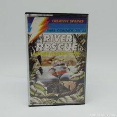 Videojuegos y Consolas: RIVER RESCUE, RACING AGAINST TIME DE CREATIVE SPARKS PARA COMMODORE 64. Lote 265802504