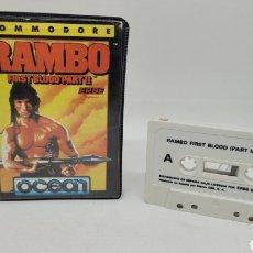 Videogiochi e Consoli: JUEGO RAMBO FIRST BLOOD PARTE II. COMMODORE. ERBE. OCEAN. INSTRUCCIONES.. Lote 266980539