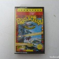 Videojuegos y Consolas: BREAKTHRU / COMMODORE 64 - C64 / RETRO VINTAGE / CASSETTE - CINTA. Lote 268469324