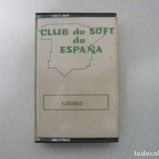 Videojuegos y Consolas: AJEDREZ - CLUB DE SOFT DE ESPAÑA / COMMODORE 64 - C64 / RETRO VINTAGE / CASSETTE - CINTA. Lote 268470189