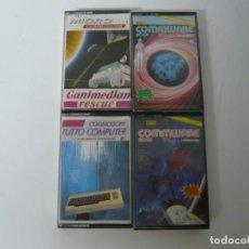 Videojuegos y Consolas: LOTE 4 CASSETTES CON PROGRAMAS / COMMODORE 64 - C64 / RETRO VINTAGE / CASSETTE - CINTA. Lote 268470414