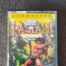 Videojuegos y Consolas: RASTAN - COMMODORE 64/128 - LOMO AMARILLO - CINTA CASSETTE. Lote 268848184