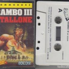 Videogiochi e Consoli: RAMBO III STALLONE CASSETTE VIDEOJUEGO COMMODORE 1988. Lote 274279348