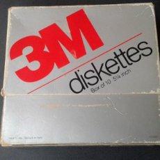 Videojuegos y Consolas: CAJA DE CARTON 3M PARA DISQUETTES 5 1/4 PULGADAS C-64 DISCO FLEXIBLE. Lote 274541363