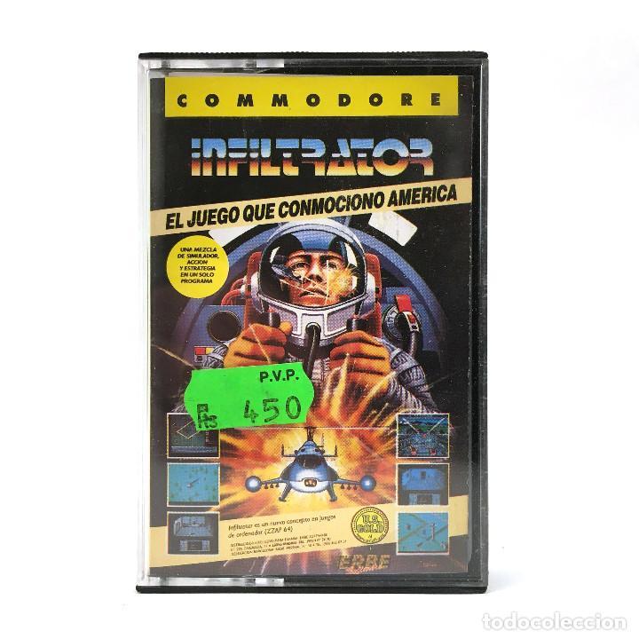 INFILTRATOR ERBE LOMO AMARILLO / U.S. GOLD / CHIS GRAY HELICOPTERO CBM COMMODORE 64 128 C64 CASSETTE (Juguetes - Videojuegos y Consolas - Commodore)