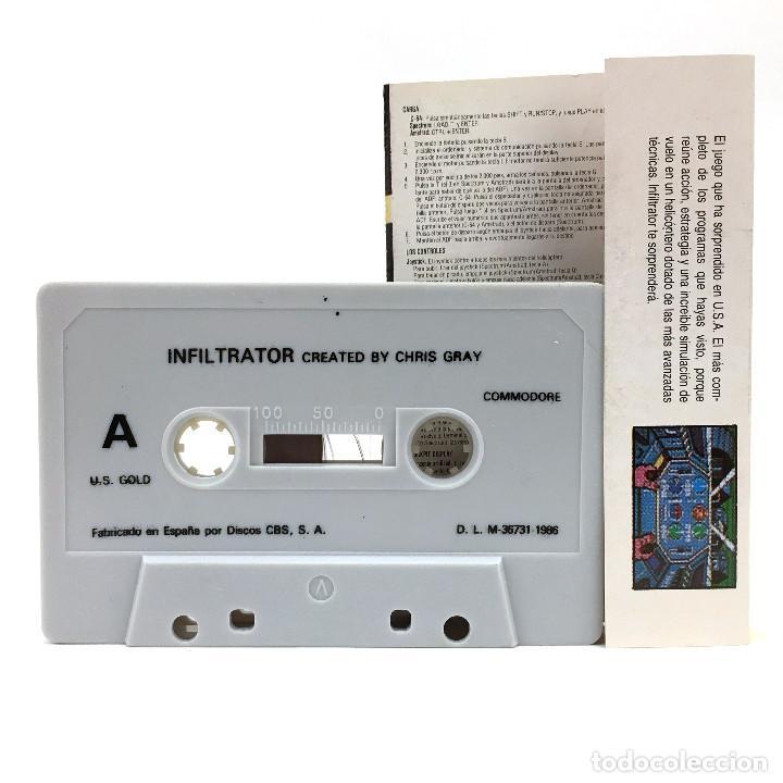 Videojuegos y Consolas: INFILTRATOR ERBE LOMO AMARILLO / U.S. GOLD / CHIS GRAY HELICOPTERO CBM COMMODORE 64 128 C64 CASSETTE - Foto 2 - 277295688