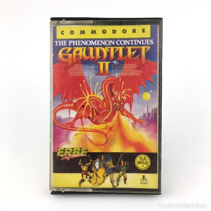 GAUNTLET II ERBE LOMO AMARILLO THE PHENOMENON CONTINUES U.S GOLD 2 CBM COMMODORE 64 128 C64 CASSETTE (Juguetes - Videojuegos y Consolas - Commodore)