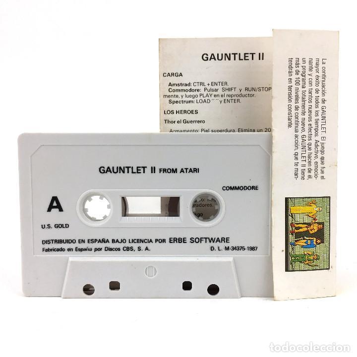 Videojuegos y Consolas: GAUNTLET II ERBE LOMO AMARILLO THE PHENOMENON CONTINUES U.S GOLD 2 CBM COMMODORE 64 128 C64 CASSETTE - Foto 2 - 277295748