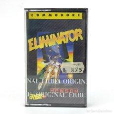 Videojuegos y Consolas: ELIMINATOR PRECINTADO. ERBE LOMO AMARILLO HEWSON SHOOTER NAVE ESPACIAL COMMODORE 64 128 C64 CASSETTE. Lote 277295873