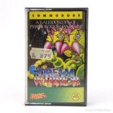 Videojuegos y Consolas: DREAM WARRIOR * PRECINTADO ERBE LOMO AMARILLO TARANN DEMONIO FUTURISTA COMMODORE 64 128 C64 CASSETTE. Lote 277295898