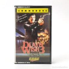 Videojuegos y Consolas: DEATH WISH 3 ERBE LOMO AMARILLO / GREMLIN GRAPHICS CHARLES BRONSON CBM COMMODORE 64 128 C64 CASSETTE. Lote 278489103