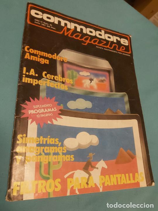 REVISTA COMMODORE MAGAZINE N. 40 1987 (Juguetes - Videojuegos y Consolas - Commodore)