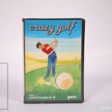 Videojogos e Consolas: VIDEOJUEGO RETRO CASETE COMMODORE 64 - CRAZY GOLF - MICROELECTRONICA Y CONTROL SA YEC - CASSETTE. Lote 286464008