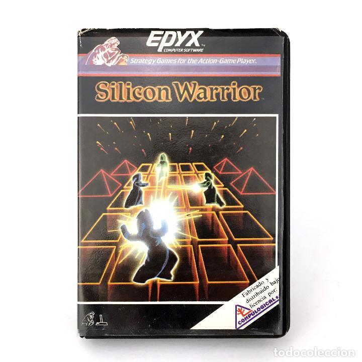 SILICON WARRIOR ESTUCHE COMPULOGICAL ESPAÑA EPYX JUEGOS DE NEON SYBORG COMMODORE 64 128 C64 CASSETTE (Juguetes - Videojuegos y Consolas - Commodore)