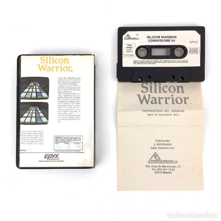Videojuegos y Consolas: SILICON WARRIOR ESTUCHE COMPULOGICAL ESPAÑA EPYX JUEGOS DE NEON SYBORG COMMODORE 64 128 C64 CASSETTE - Foto 2 - 286993183