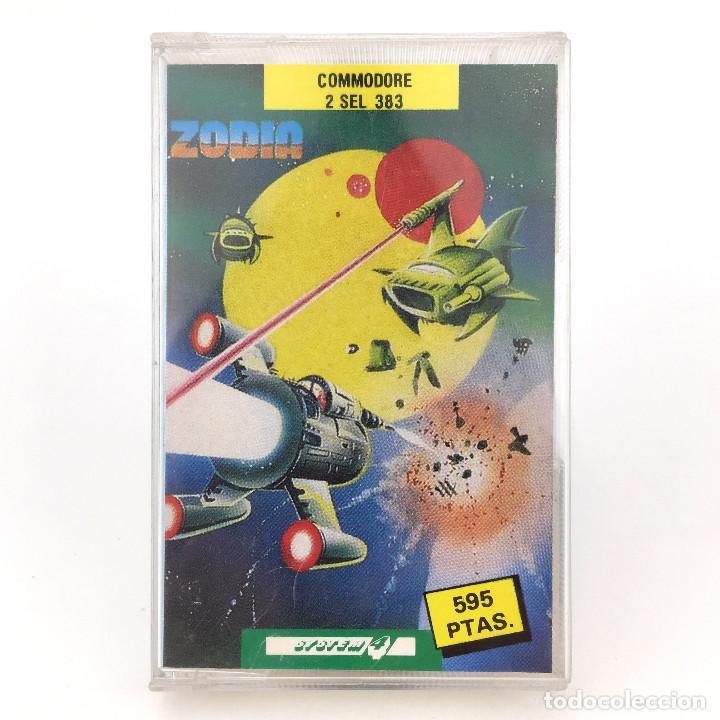 ZODIA SYSTEM 4 ESPAÑA ATLANTIS SOFTWARE 1988 MEGA RARO PLANETA GUERRA COMMODORE 64 128 C64 CASSETTE (Juguetes - Videojuegos y Consolas - Commodore)