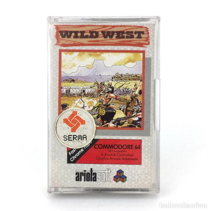 WILD WEST - SERMA SOFTWARE ESPAÑA ARIOLASOFT 1985 NO GUNFRIGHT OUTLAWS COMMODORE 64 128 C64 CASSETT (Juguetes - Videojuegos y Consolas - Commodore)
