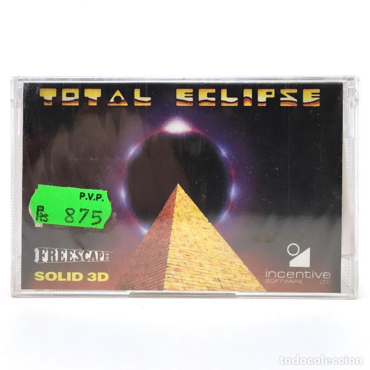 TOTAL ECLIPSE PRECINTADO. SYSTEM 4 INCENTIVE SOFTWARE FREESCAPE SOLID 1988 COMMODORE 64 C64 CASSETTE (Juguetes - Videojuegos y Consolas - Commodore)