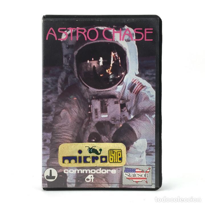 ASTRO CHASE ESTUCHE MICROBYTE FIRST STAR SOFTWARE / FERNANDO HERRERA 1984 COMMODORE 64 C64 CASSETTE (Juguetes - Videojuegos y Consolas - Commodore)