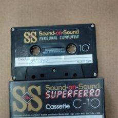 Videojuegos y Consolas: CASSETE JUEGOS - SOUND ON SOUND PERSONAL COMPUTER C-10. Lote 287625478