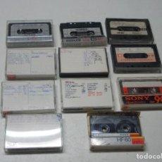 Videojuegos y Consolas: LOTE 11 CINTAS COMMODORE 64 GRABADAS, TODO SIN PROBAR FUNCIONAMIENTO, VER FOTOS DE LOS ESCRITOS. Lote 287860033
