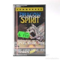 Videojuegos y Consolas: DRAGON SPIRIT PRECINTADO. ERBE LOMO NEGRO TENGEN NAMCO DOMARK WARRIOR COMMODORE 64 128 C64 CASSETTE. Lote 288116283