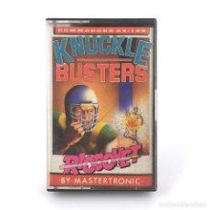 Videojuegos y Consolas: KNUCKLE BUSTERS DRO SOFT ESPAÑA MELBOURNE 1988 LUCHA DROID PRISION CBM COMMODORE 64 128 C64 CASSETTE. Lote 288121753