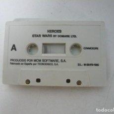 Videojuegos y Consolas: STAR WARS + LICENCE TO KILL - SOLO CINTA / COMMODORE 64 - C64 / RETRO VINTAGE / CASSETTE - CINTA. Lote 288368013