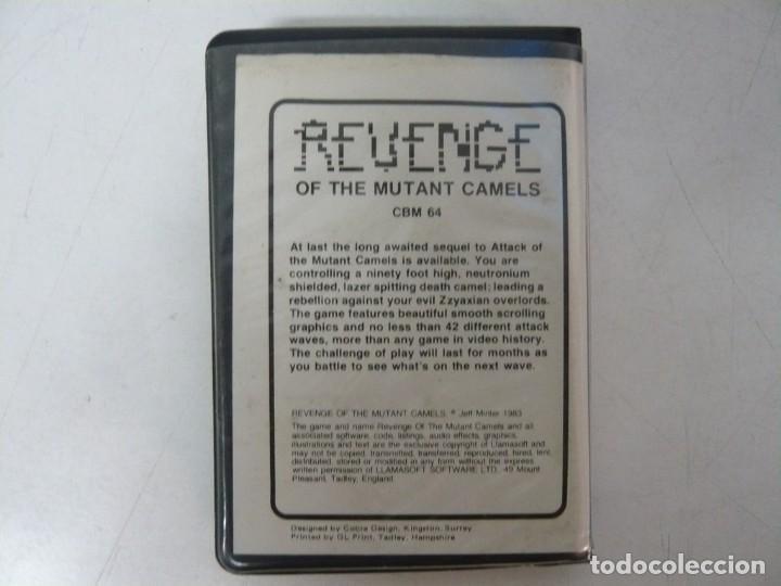 Videojuegos y Consolas: REVENGE of the Mutant Camels / Commodore 64 - C64 / Retro Vintage / Cassette - Cinta - Foto 2 - 288368758
