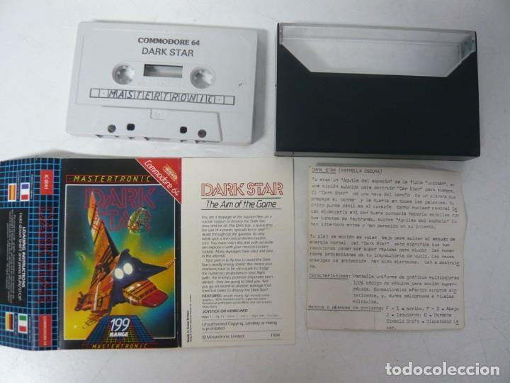 Videojuegos y Consolas: Dark Star / Commodore 64 - C64 / Retro Vintage / Cassette - Cinta - Foto 2 - 288369228
