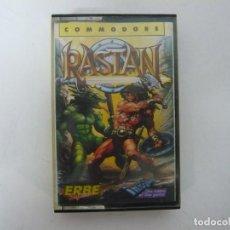 Videojuegos y Consolas: RASTAN / COMMODORE 64 - C64 / RETRO VINTAGE / CASSETTE - CINTA. Lote 288370493