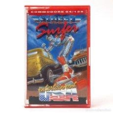 Videojuegos y Consolas: STREET SURFER DRO SOFT ENTERTAINMENT USA 1986 BOTELLAS DE COCACOLA CBM COMMODORE 64 128 C64 CASSETTE. Lote 289484888
