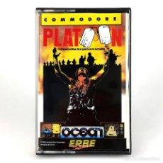 Videojuegos y Consolas: PLATOON / ERBE LOMO AMARILLO OCEAN TAITO 1987 US ARMY SOLDADOS VIETNAM COMMODORE 64 128 C64 CASSETTE. Lote 289485378