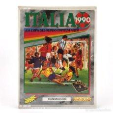 Videojuegos y Consolas: ITALIA 90 ERBE SOFTWARE US GOLD TIERTEX 1990 SOCCER MUNDIAL FUTBOL CBM COMMODORE 64 128 C64 CASSETTE. Lote 293141908
