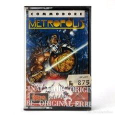 Videojuegos y Consolas: METROPOLIS PRECINTADO. ERBE LOMO AMARILLO TOPO SOFT ALFONSO AZPIRI CBM COMMODORE 64 128 C64 CASSETTE. Lote 294109038