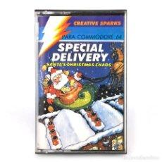 Videojuegos y Consolas: ENTREGA ESPECIAL COMPULOGICAL SANTA´S CHRISTMAS CHAOS CREATIVE SPARKS COMMODORE 64 128 C64 CASSETTE. Lote 294975898