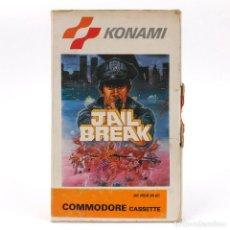 Videojuegos y Consolas: JAIL BREAK - KONAMI 1986 - SHOOT'EM UP INSTRUCCIONES EN CASTELLANO CBM COMMODORE 64 128 C64 CASSETTE. Lote 295562963